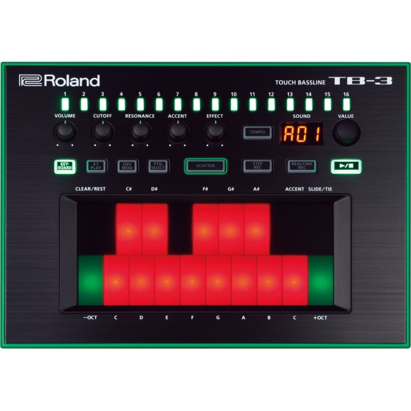 SYNTHISIZER ROLAND TB-3 TOUCH BASSLINE AIRA