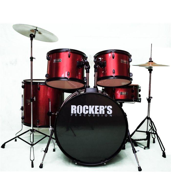 BUBANJ ROCKERS JBP-0803-RD (20,10,12,14,14) + činele + stolica