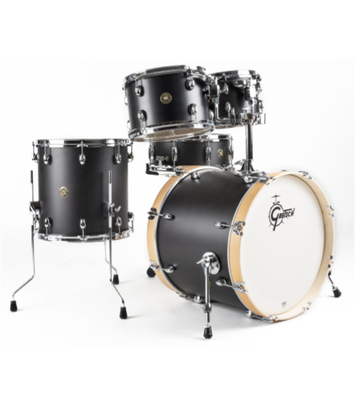 BUBANJ GRETSCH SHELL SET CATALINA MAPLE FUSION (20,10,12,14,14) SATIN BLACK