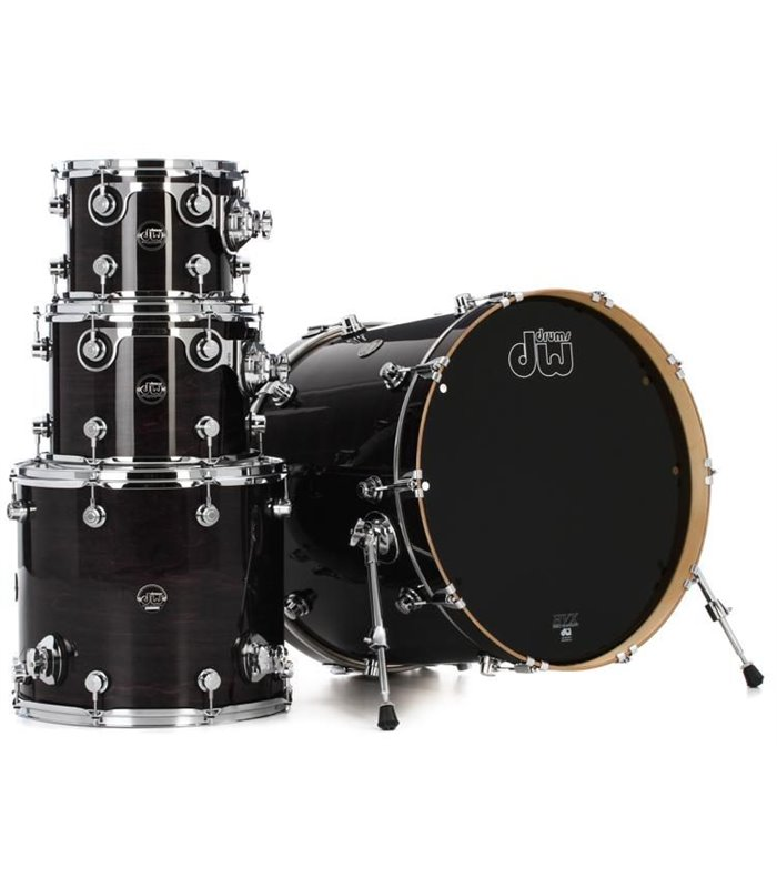 DW PERFORMANCE LACQUER EBONY STAIN (22,10,12,16) SHELL SET BUBANJ