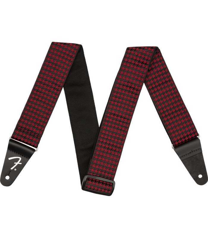 FENDER HOUNDSTOOTH STRAP RED REMEN