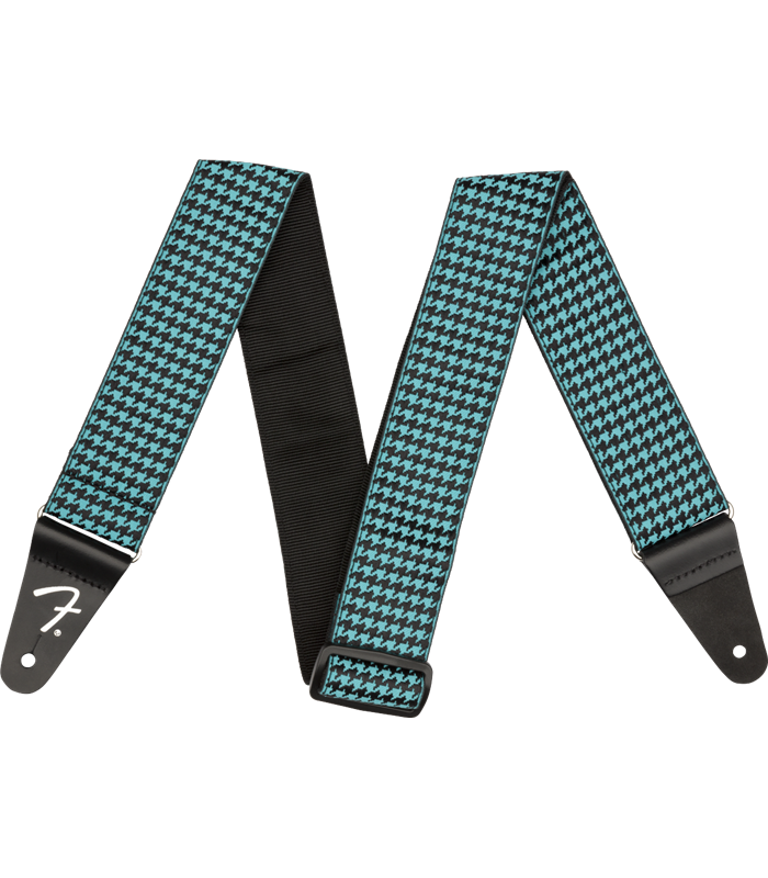 FENDER HOUNDSTOOTH STRAP TEAL REMEN
