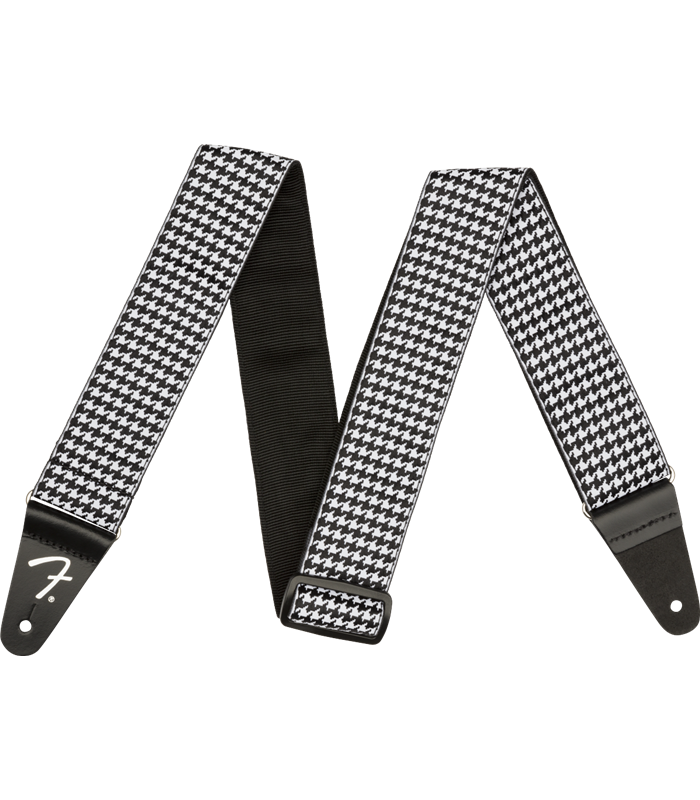 FENDER HOUNDSTOOTH STRAP WHITE REMEN