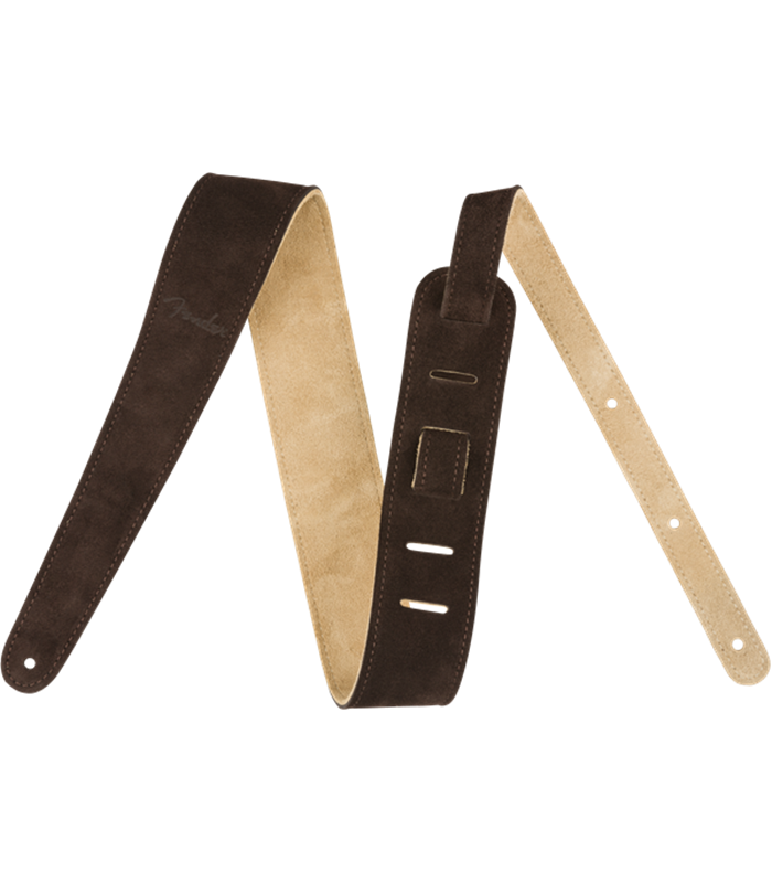 "FENDER 2"" REVERSIBLE SUEDE STRAP - BRN/TAN REMEN"