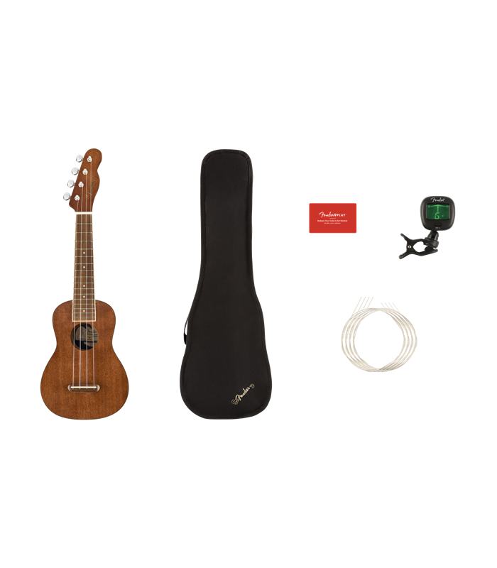 FENDER SEASIDE SOPRANO PACK NAT UKULELE