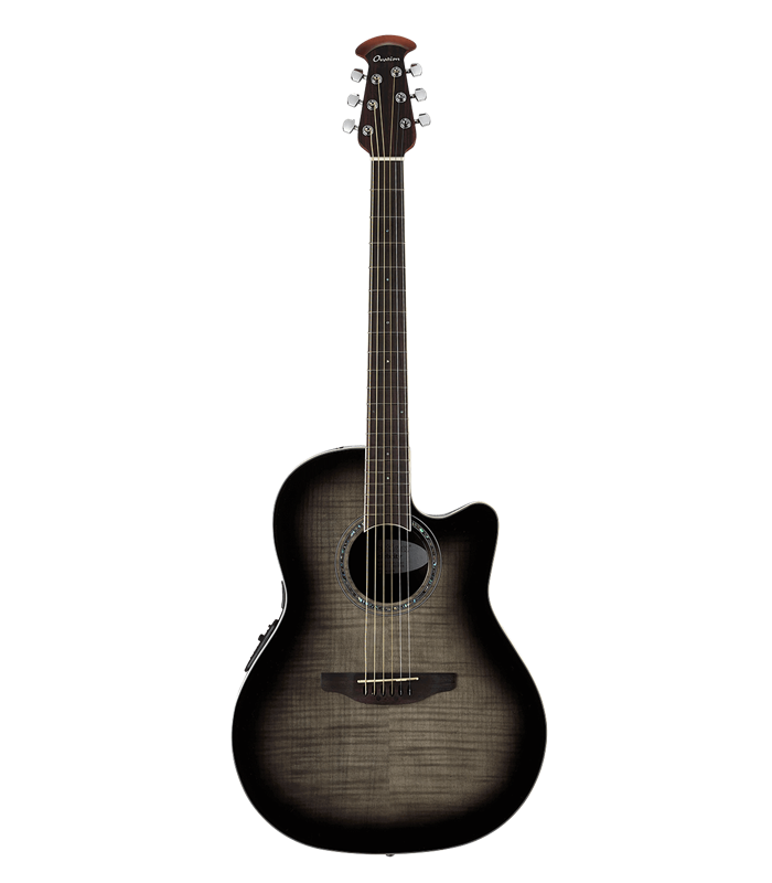 OVATION CELEBRITY STD. PLUS CS24P-TBBY trans black flame GITARA ELEKTRO-AKUSTIČNA