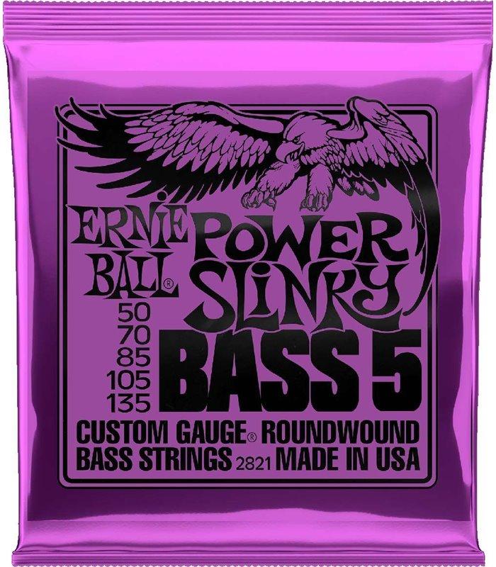 ERNIE BALL BAS ROUNDWOUND 5-STRING POWER SLINKY 50-135 ŽICE