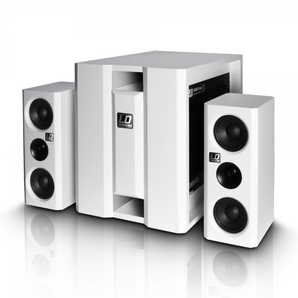"MINI RAZGLAS LD-SYSTEMS LDDAVE8XSW  WHITE   8""BASS 150W    2 x 4"