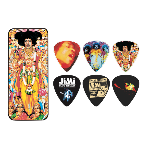 TRZALICE JIM DUNLOP JIMI HENDRIX BOLD AS LOVE PICK TIN JH-PT02M
