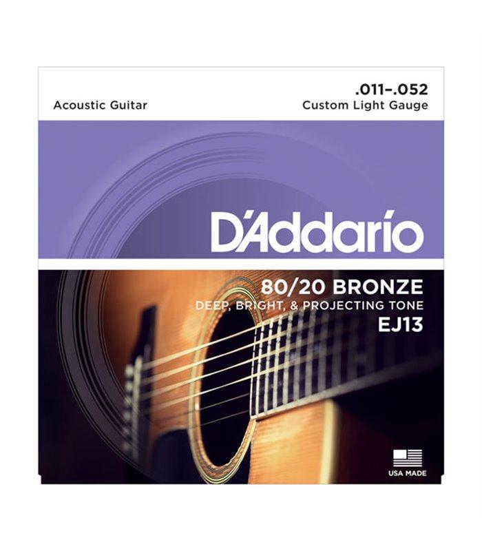 ®ICE DADDARIO AKUSTIKA EJ13 11-52 BRONZE