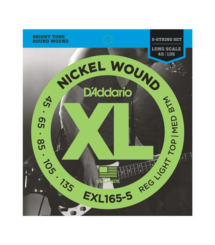 ®ICE DADDARIO BASS EXL165-5 45-135