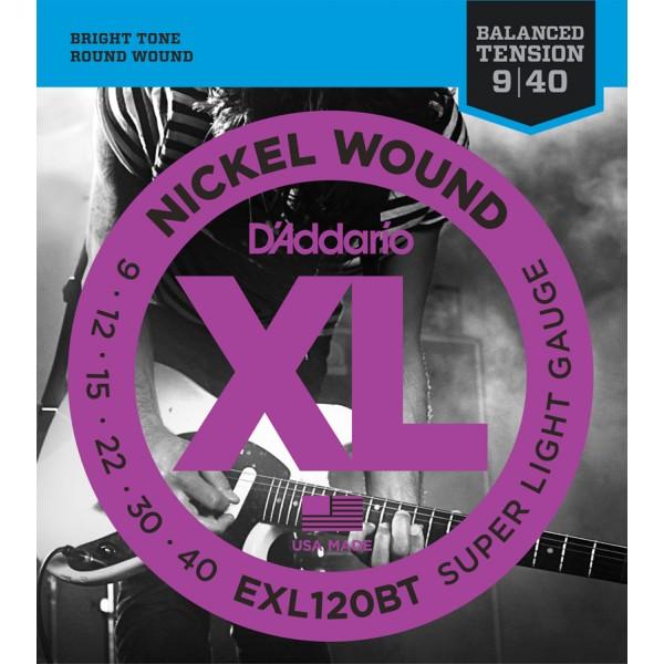 DADDARIO ELEKTRIKA EXL120-BT 09-40 balanced tension ŽICE