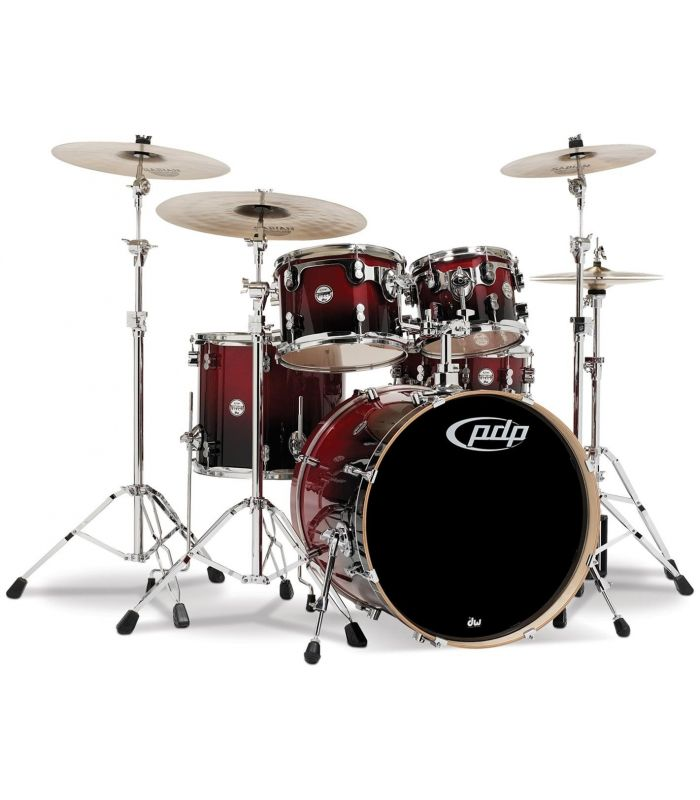 BUBANJ PDP CONCEPT MAPLE RED TO BLACK FADE (22,10,12,16,14)+HW
