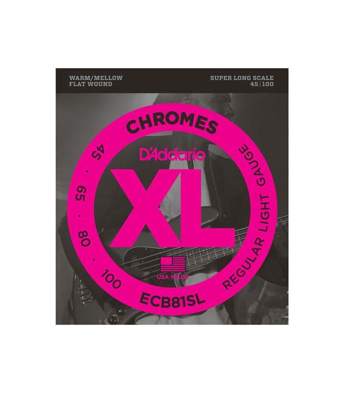 ŽICE DADDARIO BASS ECB81SL CHROMES 45-100 Flatwound, Super Long Scale