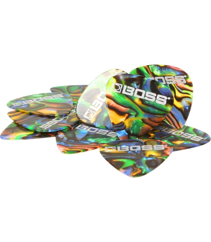 BOSS BPK-12-AM Celluloid Pick Medium ABALONE 12 pack TRZALICE