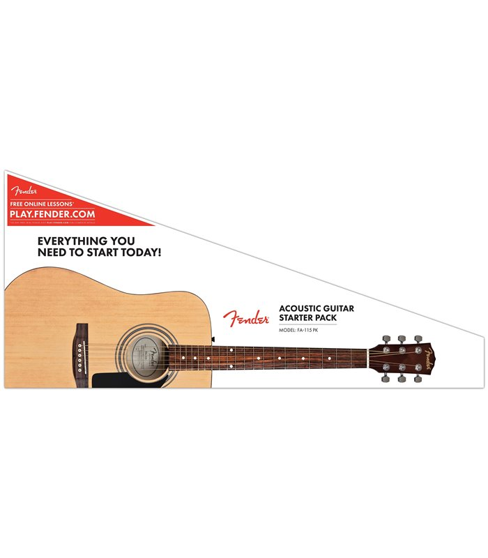 FENDER FA-115 DREADNOUGHT PACK V2 NAT WN GITARA AKUSTIČNA