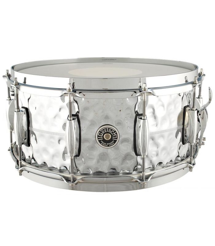 "SNARE GRETSCH USA BROOKLYN GB4164HB 14"" x 6.5"" HAMMERED CHROME/B"