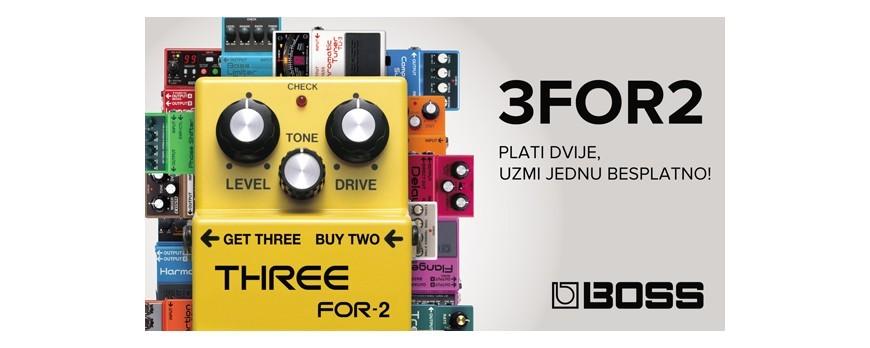 BOSS 3 za 2 - Kupi 2 pedale jednu dobivaš besplatno