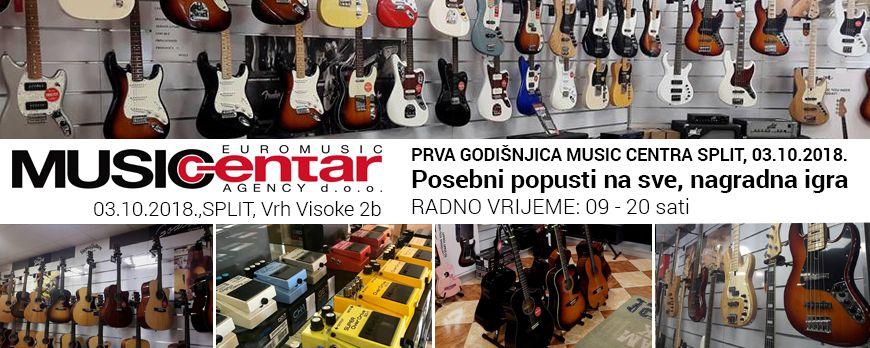 Prva godišnjica Music Centra Split