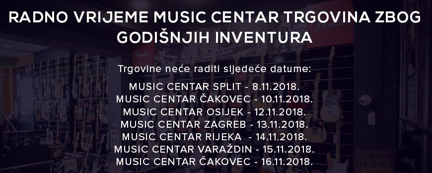 Godišnje inventure u Music Centrima