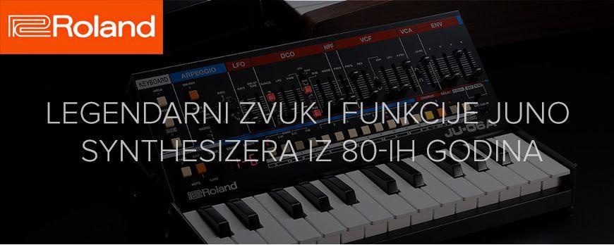 Roland vraća legendarni zvuk i funkciju JUNO synthesizera iz 80-ih godina u novom Roland Boutique Synthesizer-u